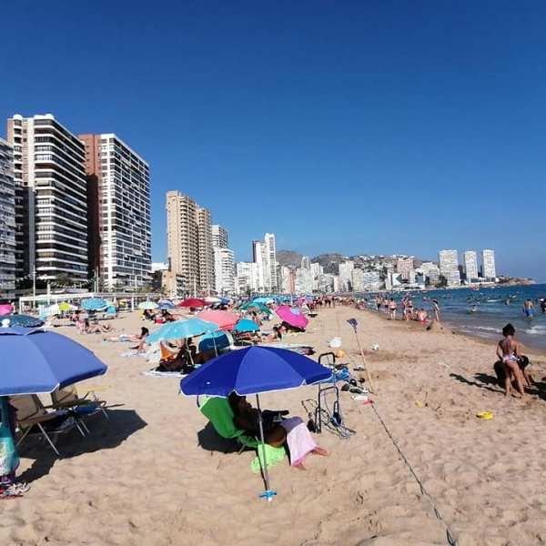 Benidorm's Levante beach August 2021